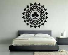 Vinyl Wall Decal Sticker Design Playing Cards Casino Decor Chance Games VY279