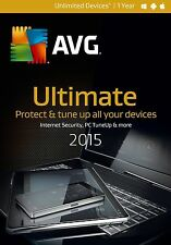NIB! AVG Ultimate 2015 Unlimited Devices / 1 Year - Free Upgrade to 2016