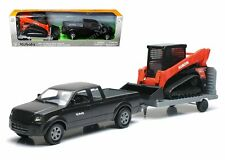 NEWRAY 1:18 KUBOTA - PICKUP TRUCK WITH TRAILER & SVL90-2 COMPACT TRACK LOADER