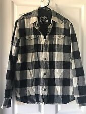 Rip Curl Boy's Jacket/ lined shirt  black white check Size:16