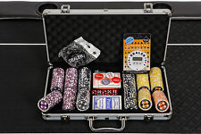 WPC Poker Chips Set - 300 Piece Numbered Poker Set with Free Extras