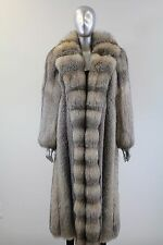 Crystal Fox Cross Cut Fronrt Fur Coat Size L