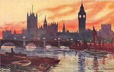 BR58071 the houses of parliament painting postcard ship bateaux   london   uk