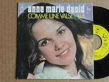 """DISQUE 45T  DE  ANNE MARIE DAVID    """" COMME  UNE  VALSE  """""""