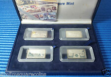 1995 Singapore World War II Commemorative Silver Ingot Set (Mintage 888 Sets)