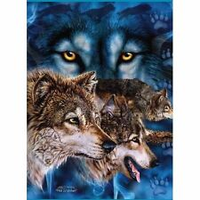 "Signature Collection 12 Wolves Super Soft Plush Blanket Queen Size 79"" x 95"""