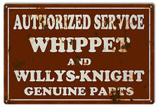 "Reproduction Whippet Willys Knight Service Sign 12""x18"""