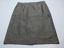 Banana Republic Womens Size 16 Grey & Orange Striped Wool & Silk Lined Skirt