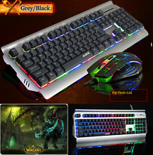 Ajazz Battle Axe Colorful Rainbow Backlit Gaming Keyboard & Mouse &WOW Mouse Pad
