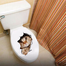 View Hole Vivid Cats 3D Wall Sticker Bathroom Toilet Home Decoration Sticker  H2