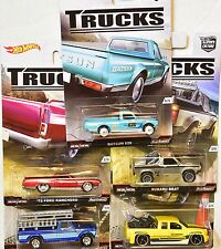 HOT WHEELS 2016 CAR CULTURE TRUCKS SERIES SET OF 5 SILVERADO DATSUN FORD