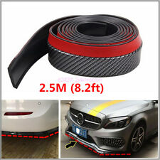 2.5M Universal Carbon Fiber Front Bumper Lip Splitter Chin Spoiler Body Trim 8ft