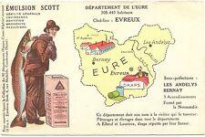 Francia, departamento de l 'vuestros, mapa, emulsión scott, para 1910/20