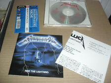 METALLICA -RIDE THE LIGHTNING- VERY HARD TO FIND JAPAN PRESS WITH OBI POSTER