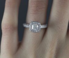 $5,500 Vera Wang Love 14K White Gold Princess Cut Round Diamond Engagement Ring