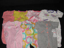 Baby Girl 6 Months Footed Sleepers Sleep & Play Sleepwear Clothes Lot