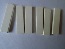 LEGO PART 2431 WHITE 1 x 4 TILE SMOOTH x 6