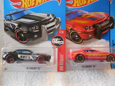 2016 HOT WHEELS #211 '10 CAMARO SS HW POLICE DEPT + 2014 HW FIRE DEPARTMENT