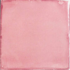 #S19) 90 MEXICAN TILES TALAVERA CERAMIC HANDMADE WASHED PINK COLOR