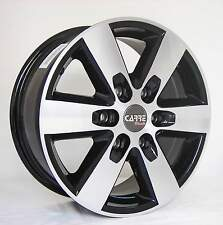 "16"" VOLKSWAGEN CRAFTER 6 STUD BLACK ALLOY WHEELS (06 ONWARDS)"