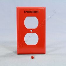 """New Eagle Red Unbreakable """"EMERGENCY"""" Receptacle Wallplate Outlet Cover EM5132RD"""