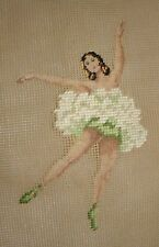 Vintage Madeira Luxury Needlepoint Preworked Canvas Ballerina  11 x 14 w/ Tag