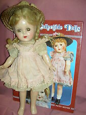 """Sweet 13"""" Alexander compo. 1937, """"McGuffey Ana"""" doll w/TWO tagged outfits & hats"""