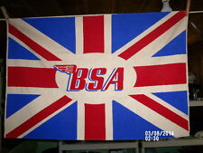 VINTAGE BSA MOTORCYCLE - ORIGINAL- FLAG - BANNER-  - SIZE 35 1/2'' BY 23 1/2''