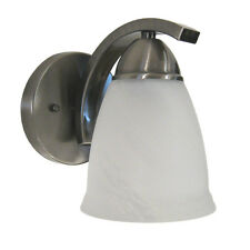 Satin Nickel And Alabaster Glass Wall Sconce