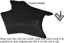 CARBON VINYL CUSTOM FITS DERBI GPR 50 125 UNDERSEAT EXHAUST 07-13  FRONT COVER