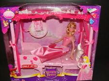NEW Sleeping Beauty Princess Bed Doll Set Throne Disney Castle Furniture NIB