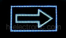 LED Schild neon Leuchtreklame Pfeil Schilder Blinken Beleuchten open