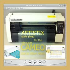 1 Carrier Sheet Craft Robo Graphtec Silhouette Cameo Cutting Mat Cards Plotter