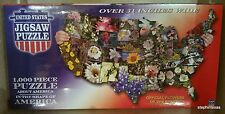 UNITED STATES Jigsaw Puzzle 1,000pc State Flowers TDC Puzzles #1777 NEW / SEALED