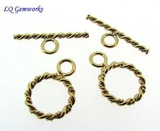 TWO (2) 14k GOLD FILLED 12mm Double Twist Toggle Clasp