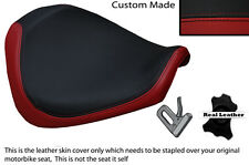 BLACK & DARK RED CUSTOM FITS YAMAHA XVS 950 09-14 FRONT LEATHER SEAT COVER