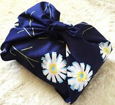 Sybilla discontinued design Furoshiki Blue Gerbera wrapping cloth 75x75cm