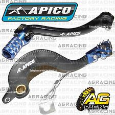 Apico Black Blue Rear Brake & Gear Pedal Lever For Yamaha WR 450F 2010 Motocross