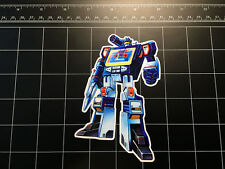 Transformers G1 Soundwave box art vinyl decal sticker Decepticon toy 1980's 80s