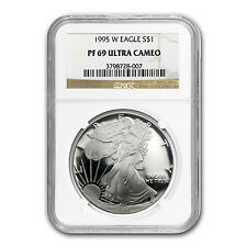 1995-W Proof Silver American Eagle Coin - PF-69 UCAM NGC - SKU #25037