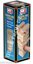 Wooden Tumbling Stacking Tower like Jenga Kids Family Party Board Game 48 piece