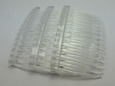 20 Clear Plastic Hair Clips Side Combs Pin Barrettes 70X40mm for Ladies Craft