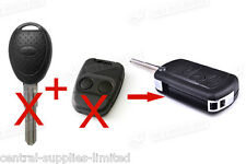 LAND ROVER DISCOVERY 2 TD4 75 2 BUTTON REMOTE FLIP KEY CONVERSION FOB CASE BLADE