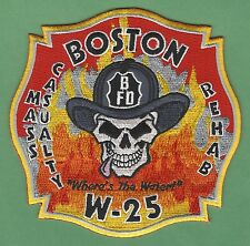 BOSTON FIRE DEPARTMENT WAGON COMPANY 25 PATCH