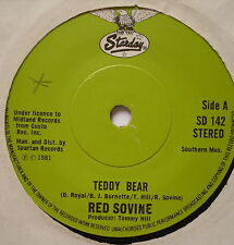 """RED SOVINE - Teddy Bear - Excellent Condition 7"""" Single Starday SD 142"""
