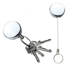 Full Metallic Keychain Stainless Steel Retractable Key Recoil Pull Chain KL