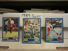 1989 Score Football pick 30 cards finnish your set