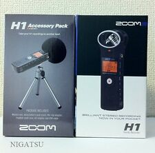 NEW!! ZOOM H1/MB Handy Recorder / APH-1 Black with Accessory Pack from JAPAN