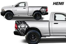 Vinyl Decal Hemi Wrap Kit for Dodge Ram Truck 09-14 1500/2500/3500 Matte Black