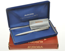 Aurora 98 solid 925 silver vintage ballpoint pen, brushed finish, new pristine